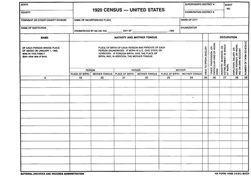 SYNGENEIA U S Federal Census Forms - Map guide to the us federal censuses 1790 1920